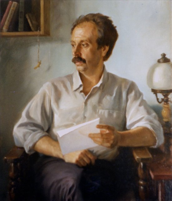 Портрет мужчины в кресле - Мужской портрет фото