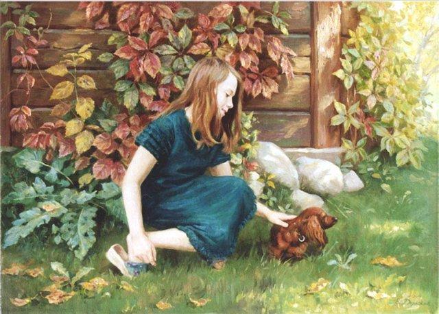 детский портрет < Настя   >  :: Е. Демаков - Детский портрет фото