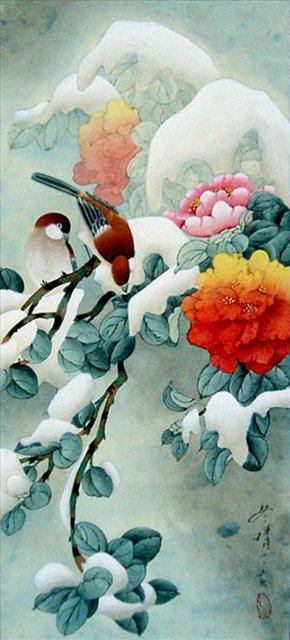 Первый снег - Натюрморты, цветы и растения в живописи фото