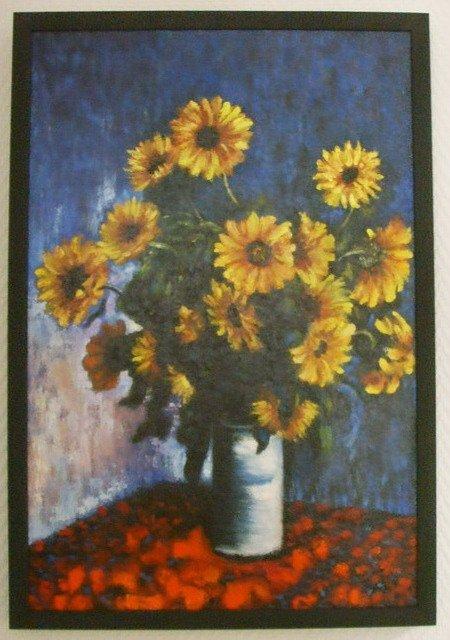 копия картины Клода Моне - Подсолнухи - Копии импрессионистов фото