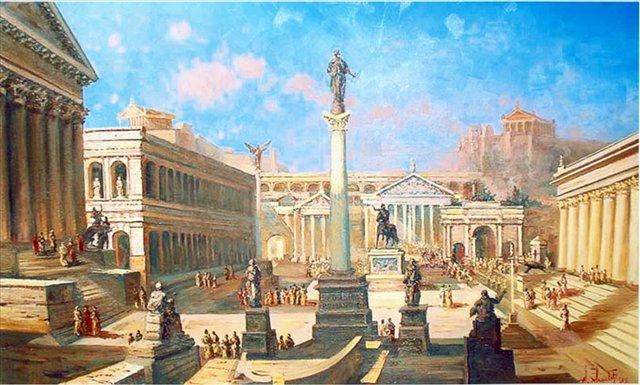 Римский форум ( копия с картины неизвестного художника ) - Архитектура фото