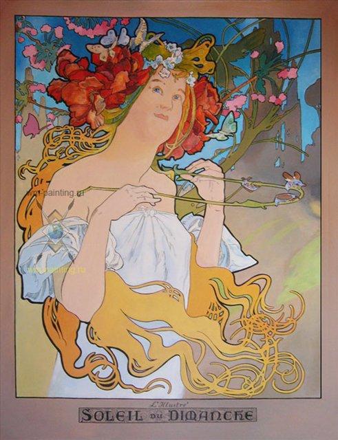 Копия картины Альфонса Мухи - Репродукции - копии маслом  шедевров живописи фото