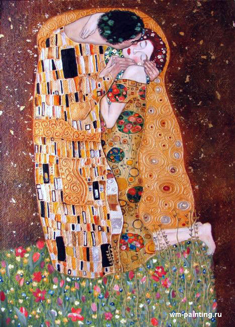 картина Поцелуй :: Густав Климт - копии картин Климта фото