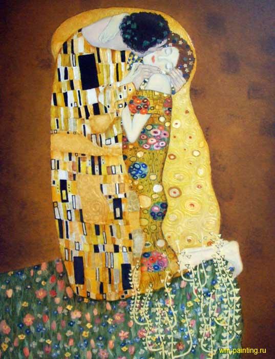 """Копия картины Г. Климта """"Поцелуй"""" - копии картин Климта фото"""
