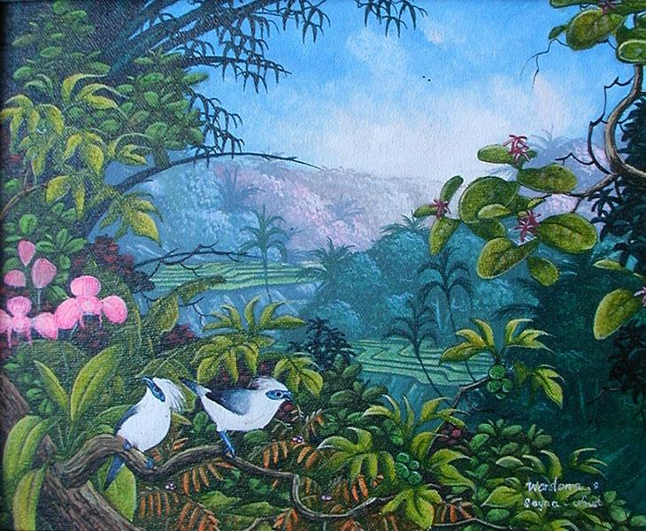 картина <Флора и Фауна> :: Натук ( Бали, Индонезия ) - пейзажная живопись фото