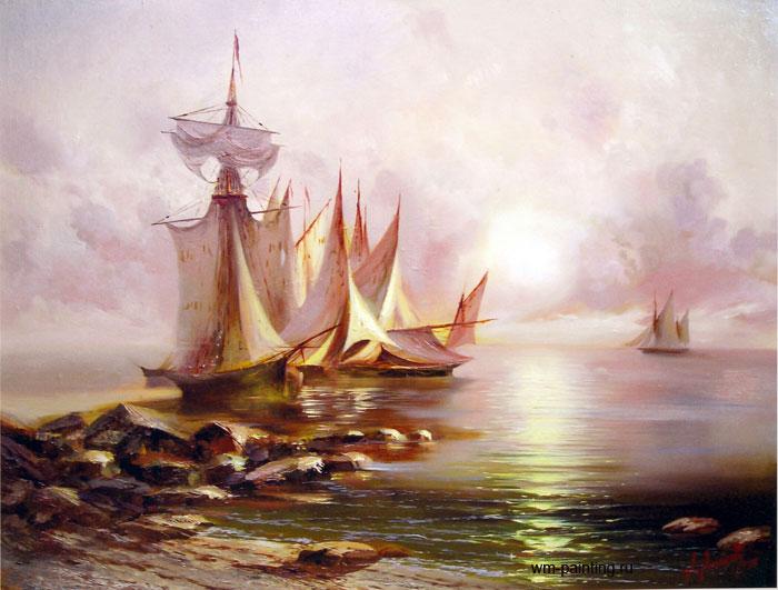 пейзаж Рассвет на море :: А. Милюков - Морские пейзажи (современная марининстика) фото