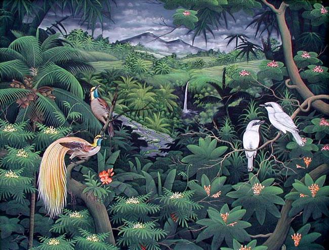 картина Райские птицы :: Гобанк - пейзажная живопись фото