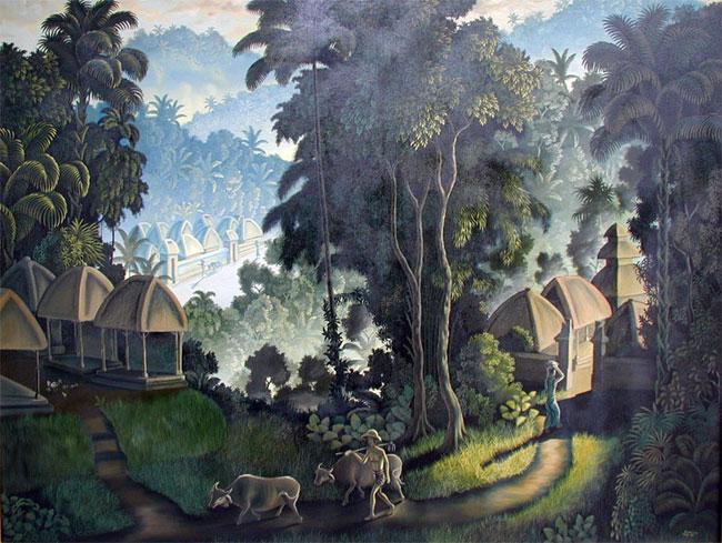 балийский пейзаж Деревня :: Кенсоно - пейзажная живопись фото