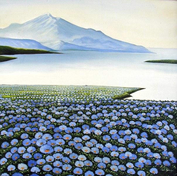 пейзаж <Горы и цветы> ::  Рахи ( Бали, Индонезия ) - Пейзажи ( пейзажная живопись ) фото