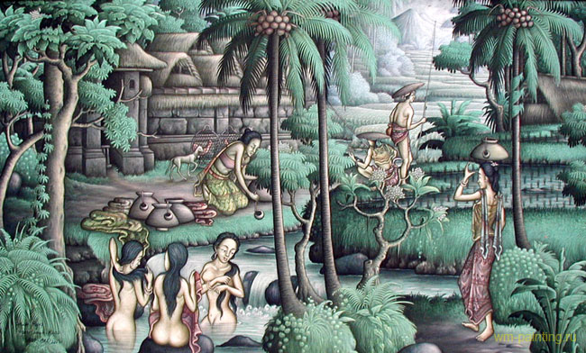 пейзаж <В деревне> ::  Райджиг ( Бали, Индонезия ) - Пейзажи ( пейзажная живопись ) фото