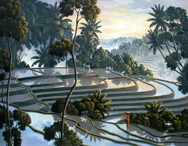 пейзаж Рисовое поле ::  Райджиг ( Бали, Индонезия ) - пейзажная живопись фото