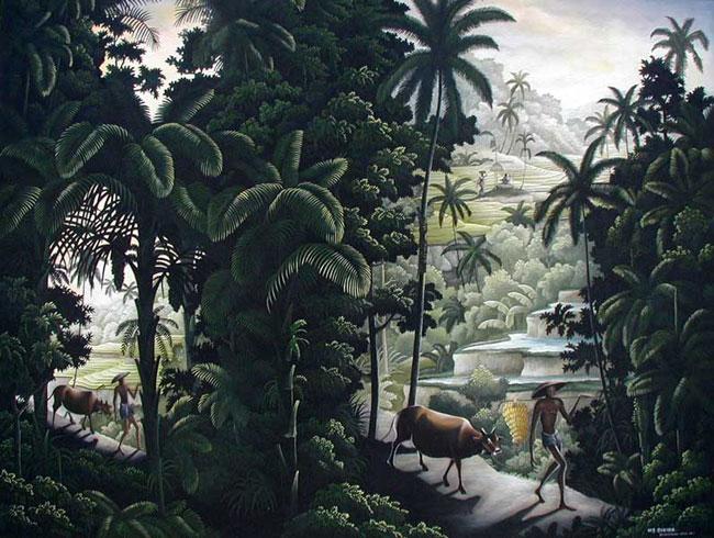 пейзаж <Погонщики> :: Судира ( Бали, Индонезия ) - Пейзажи ( пейзажная живопись ) фото