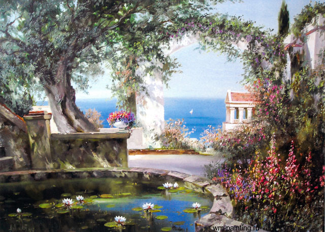 картина <Итальянский пейзаж> :: А. Милюков - Морские пейзажи (современная марининстика) фото