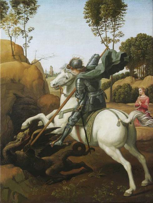 Копия картины Рафаэля «Чудо Св. Георгия со змеем» - Репродукции - копии маслом  шедевров живописи фото