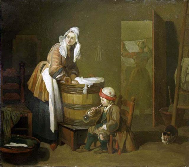 Копия картины Ж.-Б. Шардена «Прачка» - Репродукции - копии маслом  шедевров живописи фото