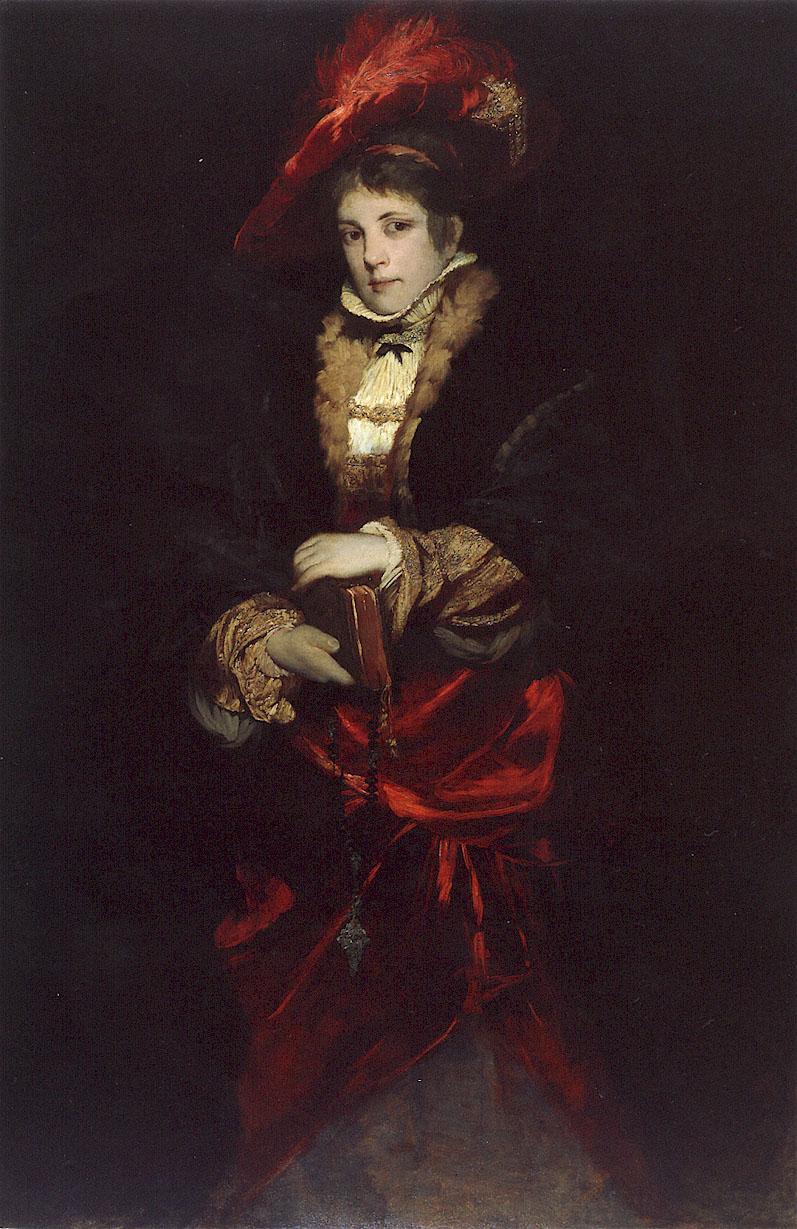 Портрет леди в шляпе с красными перьями :: Ганс Макарт - Разное фото