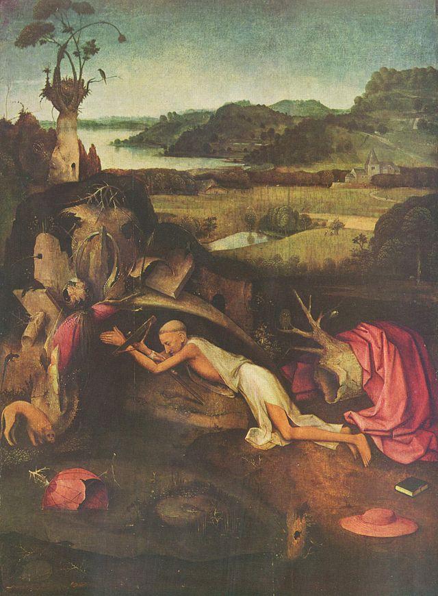 Иероним Босх. Св. Иероним за молитвой. ок. 1505. - Разное фото