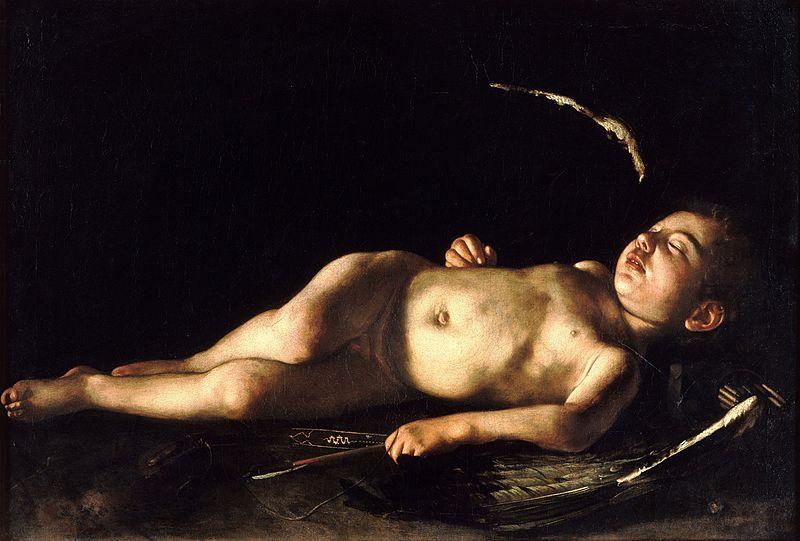 Караваджо картина Спящий купидон, галерея Палатина - Разное фото