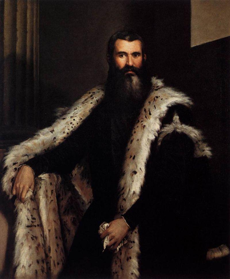Паоло Веронезе картина Джентльмен в мехе рыси, галерея Палатина  - Разное фото