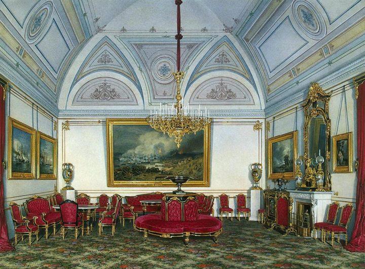 картина Виды залов Зимнего дворца :: Эдуард Гау - Барокко, Ампир, Возрождение, Роккоко ( дизайн интерьера) фото