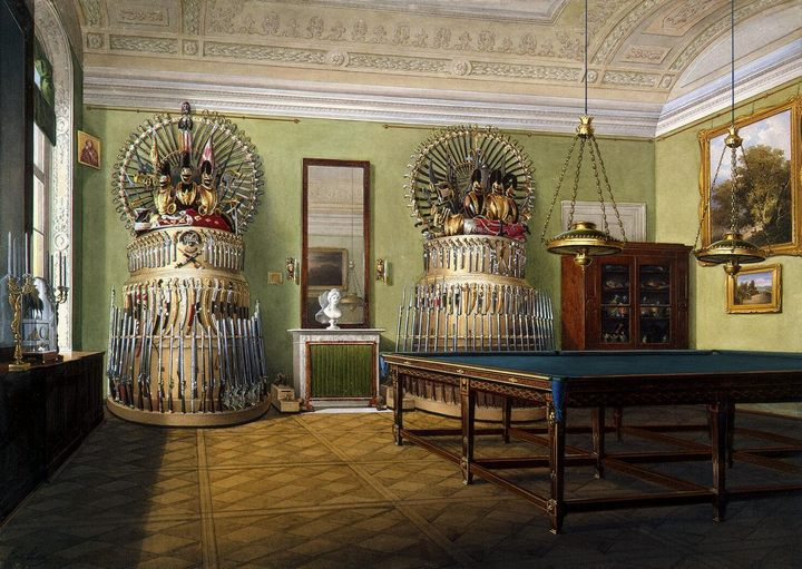 Бильярдная императора Александра II в Зимнем Дворце :: Эдуард Гау - Английский, традиционный, классический  (  интерьер дизайн фото) фото
