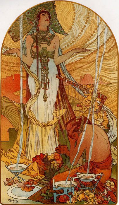 Картины Ар-нуво, югендстиль, сецессион - Альфонс Муха