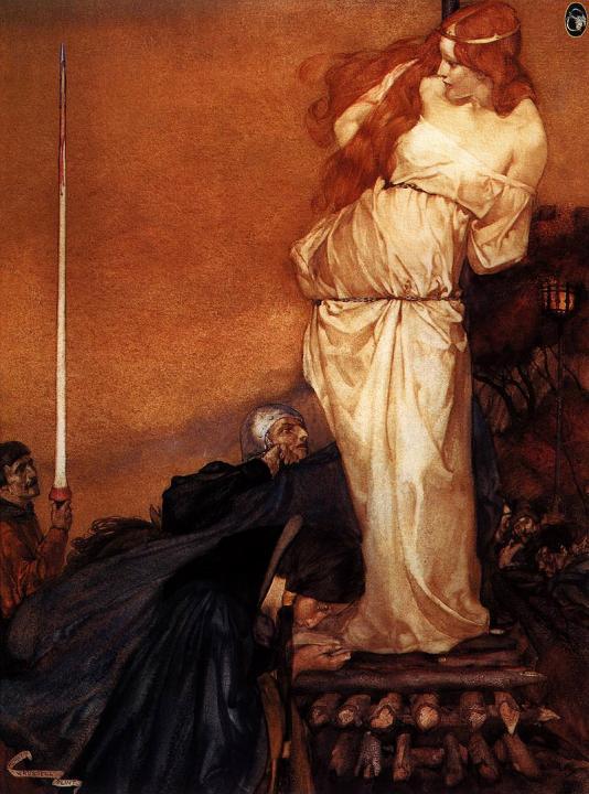 """Фото (репр. картины) для статьи: """"Прерафаэлит Эдуард Коли Бёрн-Джонс - витражи, гобелены, мифологическая и библейская живопись, женский портрет, ню"""""""