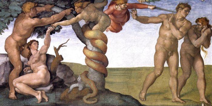 """Фото (репр. картины) для статьи: """"Микеланджело - религиозная и мифологическая живопись, картины и скульптура"""""""