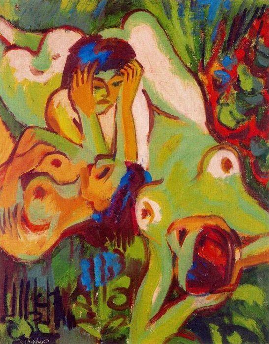 """Фото (репр. картины) для статьи: """"Экспрессионизм - картины современных художников из нашей галереи"""""""