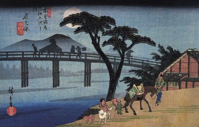 """Фото (репр. картины) для статьи: """"Хиросигэ Утагава - художник укиё-э (японская живопись) - пейзажи"""""""