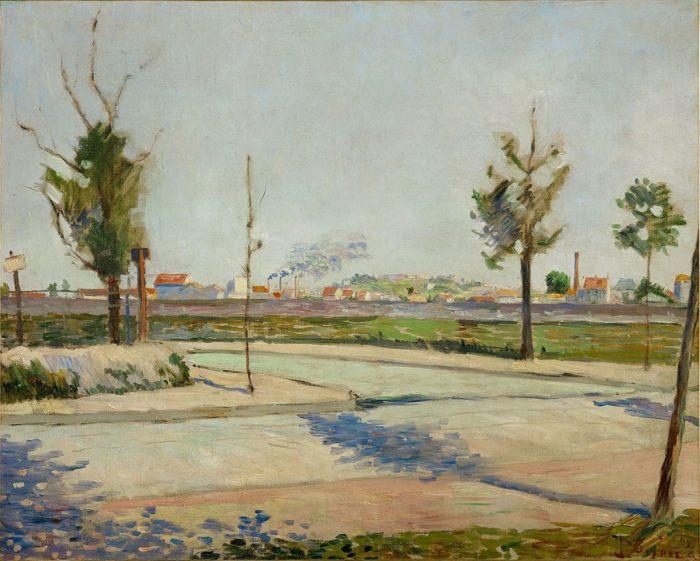 «Дорога в Женневийе» (Road to Gennevilliers), 1883 год, Музей Орсе, Париж Синьяк Поль, художник неоимпрессионист - Разное фото