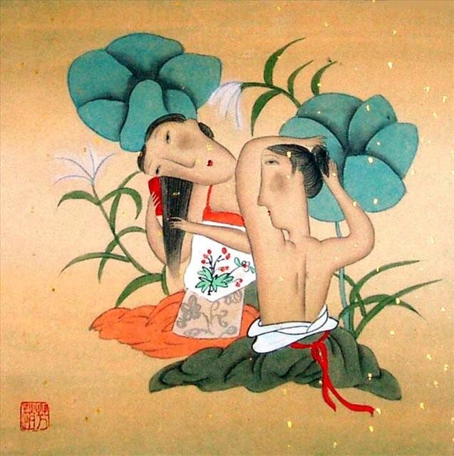 картина Летнее настроение :: Жао Фенг - Китай традиционная живопись Гохуа фото