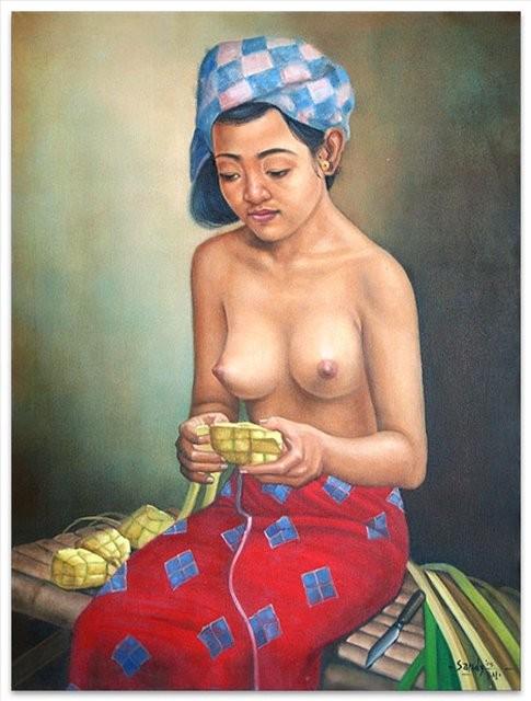Приготовление к церемонии :: Санди ( Бали, Индонезия ) - НЮ - современная эротическая живопись фото