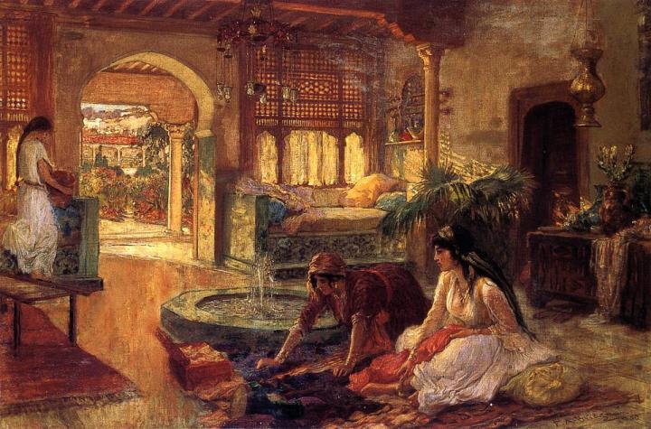 картина Арабский интерьер :: Бридгман Фредерик Артур - Арабский стиль фото