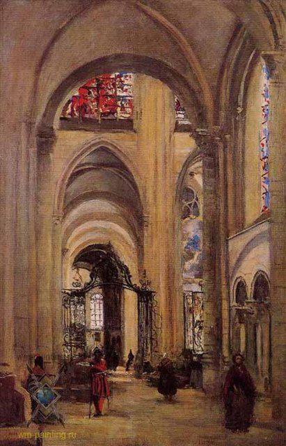 Интерьер кафедрального собора :: Жан Баптист Камиль Корот - Готика ( интерьер, декор) фото