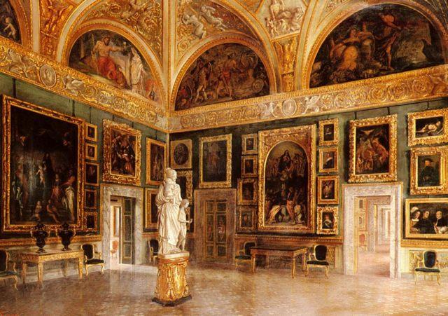 Интерьер дворца Питти :: С. Корси ( Италия ) - Барокко, Ампир, Возрождение, Роккоко ( дизайн интерьера) фото