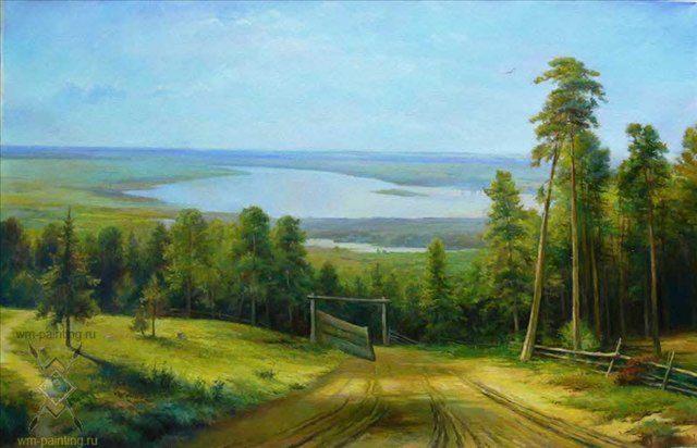 Кама близ Елабуги :: копия с картины Шишкина - Репродукции - копии маслом  шедевров живописи фото