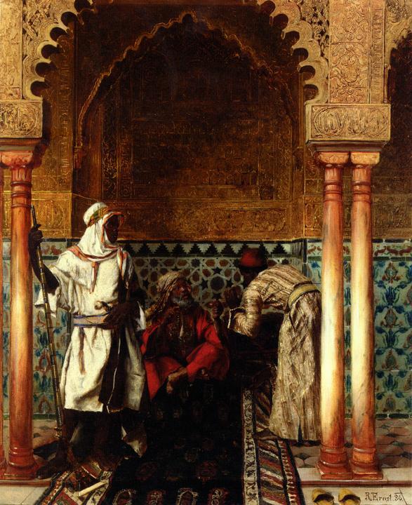 картина Арабский мудрец :: Рудольф Эрнст - Арабский стиль фото