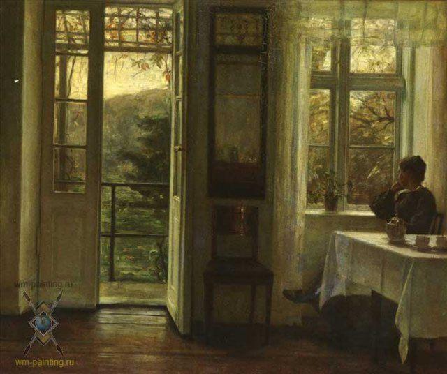 Кантри интерьер квартиры с видом на сад :: Карл Вильгельм Холсо - Кантри (дизайн коттеджа) фото