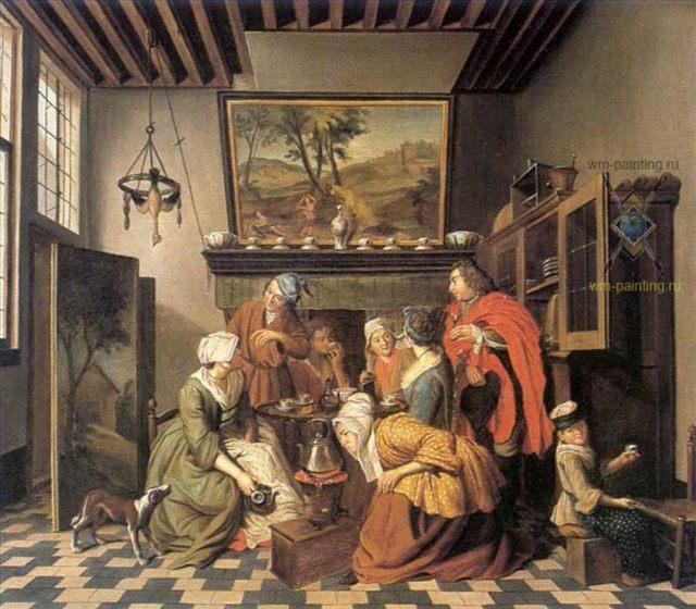 Время чая ( бельгийский интерьер кухни ) :: Ян Жосеф Хоменс - Кантри (дизайн коттеджа) фото