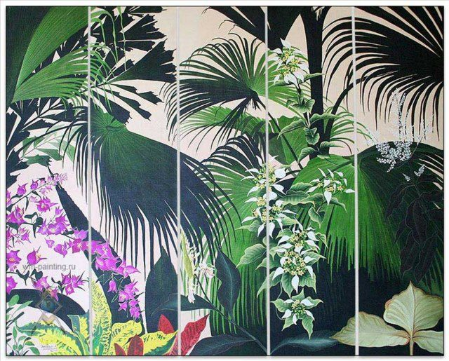 картина Мой мир (экзотические цветы и растения) :: Гобанг (Бали) - Современный натюрморт художников мира фото
