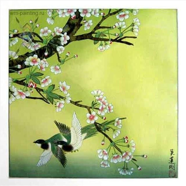 картина цветы и птицы :: Ву ЛинГанг, китайская живопись - Китайская живопись, Гохуа фото