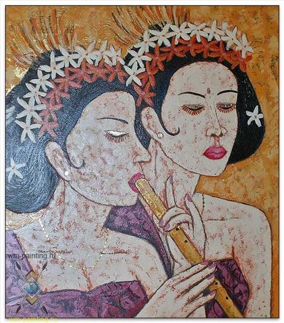 картина Серьёзные :: Гобанг ( Индонезия, Бали ) - Современная живопись Индонезии фото