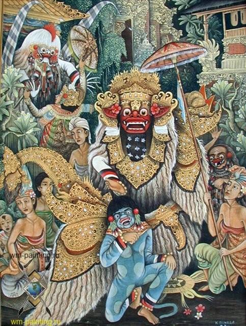 картина Танец Баронг :: художник Суэла ( Индонезия) - Современная живопись Индонезии фото