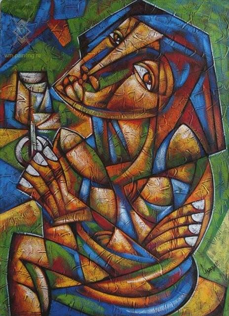 Без названия :: Мигель Альберто Лабрада ( Куба ) - Кубизм фото