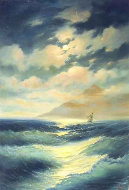 копия картины Айвазовского Лунная ночь - копии - Морские пейзажи фото
