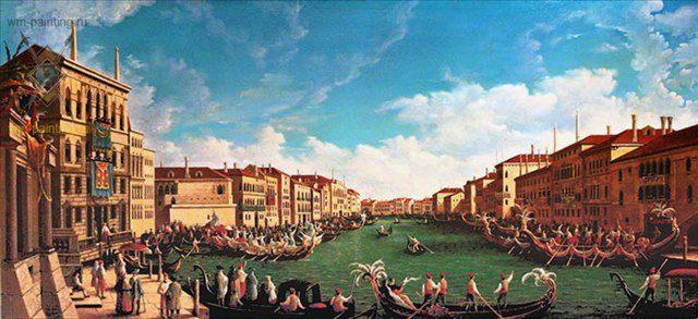 "копия с картины Каналетто ""Регата на большом канале"" - Архитектура фото"