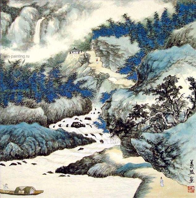 Мирная жизнь в горах :: У Чань Янь ( Ву Чанган) ( Китай ) - Китайская живопись, Гохуа фото