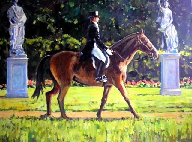 картина Всадник :: С. Сорокин - Лошади ( иппический жанр - картины с лошадьми ) фото