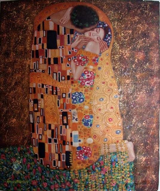"""Копия картины Густава Климта """"Поцелуй"""" - копии картин Климта фото"""